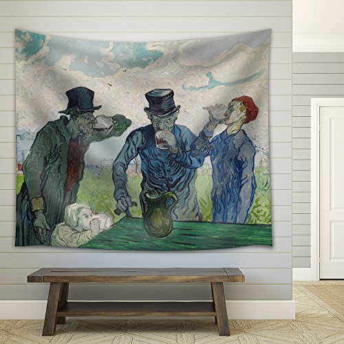 The Drinkers by Vincent van Gogh Fabric Tapestry