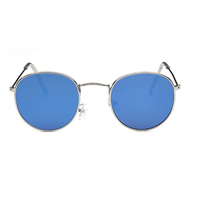 db1394572f RazMaz Retro Round Vintage Blue Unisex Sunglasses with UV400  Amazon ...
