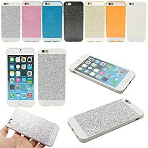 Bling del brillo suave de la moda de caucho de silicona cubierta trasera del caso para el iphone 5 / 5s (colores surtidos) + teléfono ( Color : Negro )