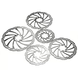 #7: OUTERDO Cycling Bicycle Bike Brake Disc Rotors 120mm/140mm/160mm/180mm/203mm With Bolts
