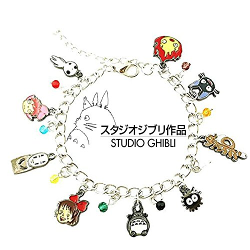 Studio Ghibli Inspired Jewelry Collection Charm Bracelet w/Gift Box by Superheroes (Heart Hero Arts)
