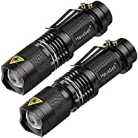 2-Pack Hausbell 7W Ultra Bright Mini LED Tactical Flashlight