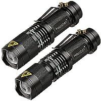 Hausbell 7W Ultra Bright Mini LED Flashlight Tactical Flashlight (2 Pack)