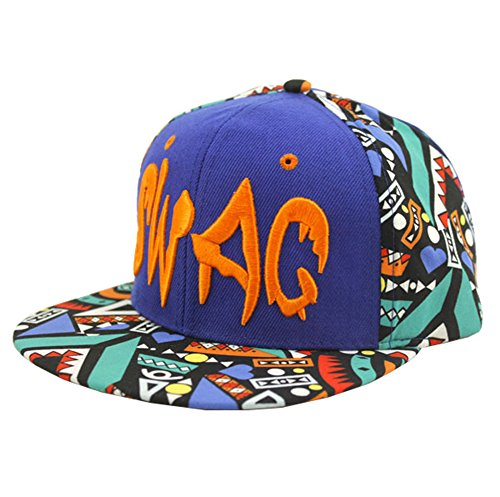 Bayto Fashion New Snapback Hats Unisex SWAG Floral Baseball Cap Sapphireblue Cotton Bboy Hat