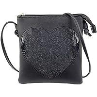SteamedBun Ita Bag Heart Crossbody Bags for Women Girls Small Clear Phone Wallet Shoulder Purse with zipper