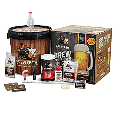 Brewferm Buckrider Belgian Home Brewing Starter Brew Kit – Tripel Terror Craft Brew Mix – No Boil – Makes 9 Liters/ 2.5…