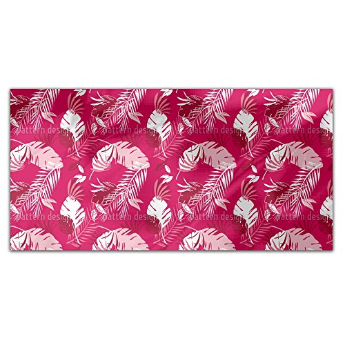 Honolulu Pink Rectangle Tablecloth: Medium Dining Room Kitchen Woven Polyester Custom Print by uneekee