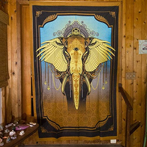 Third Eye Tapestries Grand Elephant Wall Tapestry Wildlife Tapestry – Hanging Modern Art Tapestry