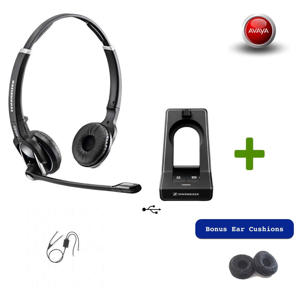 Sennheiser SD PRO2 - Deskphone Cordless Headset with Avaya EHS Adapter | Compatible Avaya Models: 1400, 9400 & 9500 Series