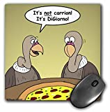 Rich Diesslins Funny General Cartoons - Buzzards Reflect on Pizza - Its Not Carrion Its DiGiorno - MousePad (mp_3814_1)