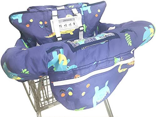 2in1 Baby Shopping Cart Covers Fits Highchairs and Shopping Cart Seats Includes Free Carry Bag Infants /& Toddlers Shopping Cart Cover,High Chair and Grocery Cart Cover for Babies Kids 10