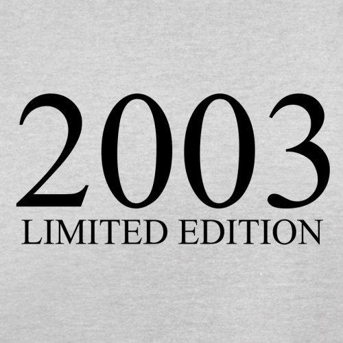 2003 Limierte Auflage / Limited Edition - 14. Geburtstag - Herren T-Shirt - Hellgrau - L