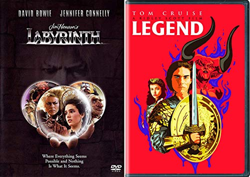 The Ultimate 80's Science Fiction Fantasy Super Pack: Legend (Special Limited Edition Pop Art Cover) & Labyrinth DVD Double Feature Film Bundle ()