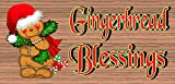 bread board hanger - Christmas sign - Gingerbread Blessings - Christmas plaque