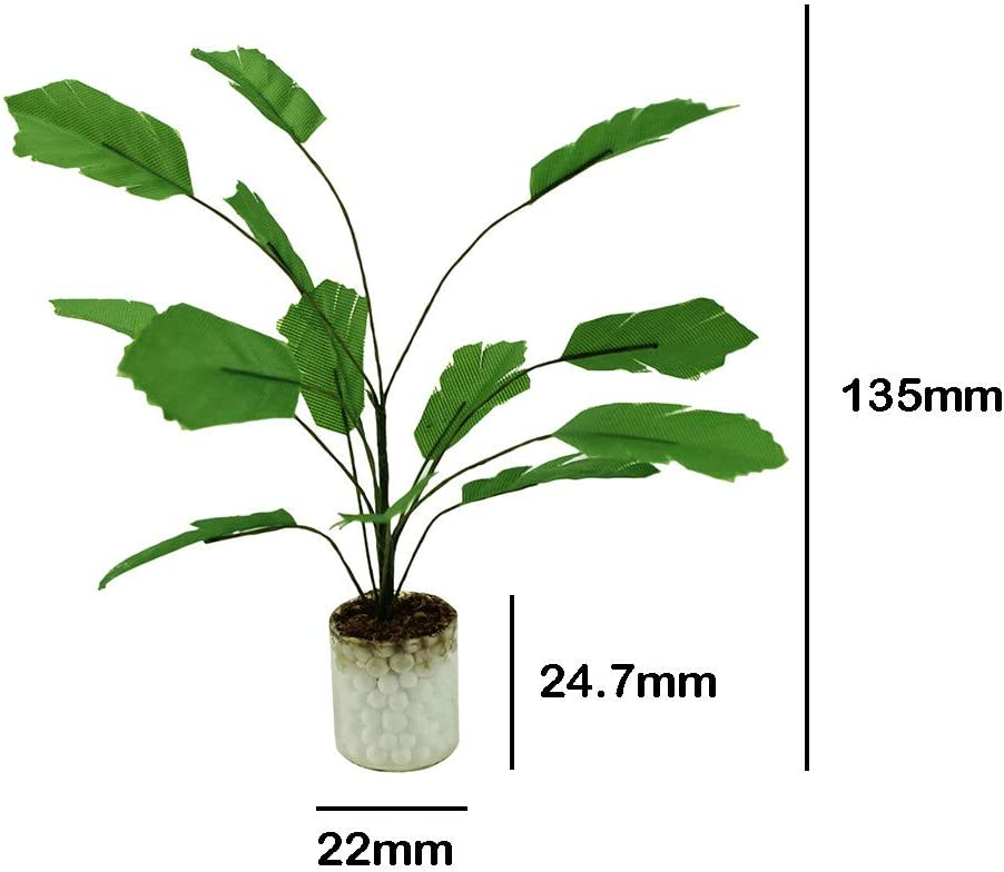 Mini Tree Potted 1:12 Doll House Accessories Green Plant Potted New Sale