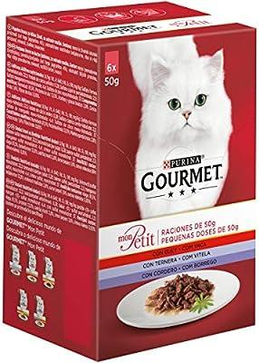 Purina Gourmet Mon Petit comida para gatos Carnes 6 x 50 g ...