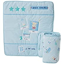 Clair de Lune Ahoy Rocking Crib Bedding includes Quilt and Bumper