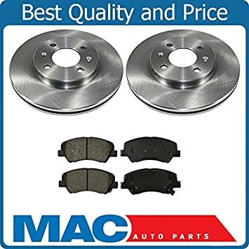 Discos de Freno Delanteros rotores y cerámica de freno almohadillas para 12 - 14 Hyundai Accent Kia Rio: Amazon.es: Coche y moto