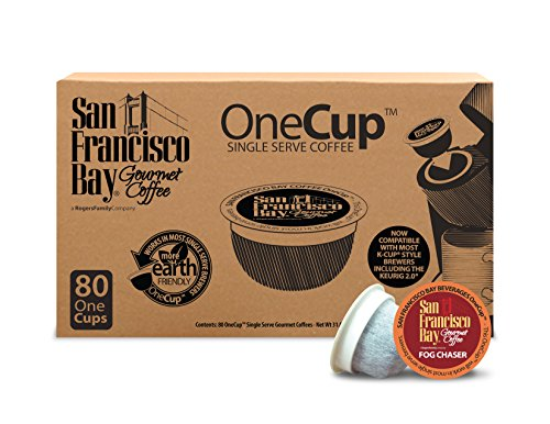 San Francisco Bay OneCup, Fog Chaser, 80 Count- Single Serve Coffee, Compatible with Keurig K-cup