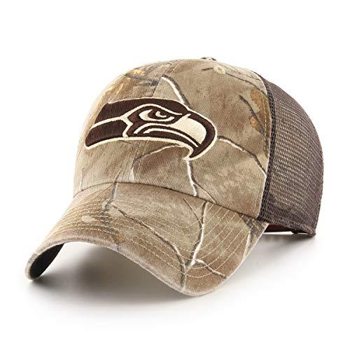 NFL Seattle Seahawks Men's Ledgewood Realtree OTS Challenger Adjustable Hat, Team Color, One Size