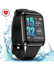 $32 » DoSmarter Smart Watch IP68 Waterproof GPS Running Fitness Activity Tracker Watch with 1.3 Inches Color Screen, Bluetooth Heart Rate Monitor Smart Wrist Watches with Sleep Tracker for Woman Man Kids
