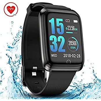 Amazon.com: FITVII Smart Watch, Fitness Tracker with IP68 ...