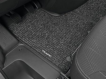 Regalo Delanteras for 2 pasajeros Alfombrillas de Goma Compatible con Renault TRAFIC III Desde 2014 | Accesorios Coche Alfombrilla Suelo + Limpiador de Plasticos