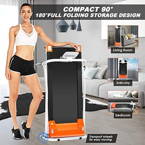 ANCHEER Treadmill, Electric Treadmills for Home with LCD Motorized Running Walking Jogging Exercise Fitness Machine Trainer Equipment for Home Gym Office 6