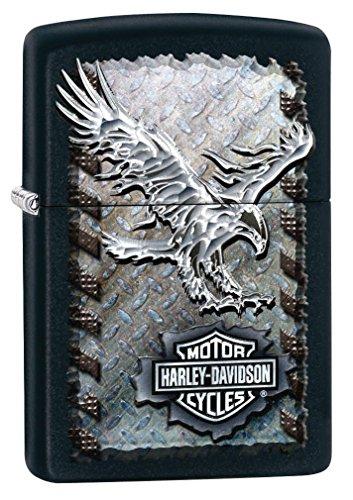 Custom Personalized Black Matt Eagle Harley-Davidson Windproof Lighter Free Engraving # 28485