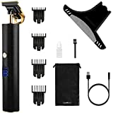 SUPRENT Pro T Outliner Trimmer, 2-Speed Hair Clippers for Men Kids, Electric Pro Li Outliner, Cordless Close Cutting T-Blade Trimmer, USB Rechargeable Detail & Grooming Beard Trimmer, LED Display