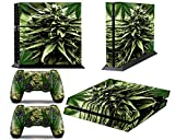Cheap PS4 Designer Skin for Sony PlayStation 4 Console System plus Two(2) Decals for: PS4 Dualshock Controller – Skunk Bud