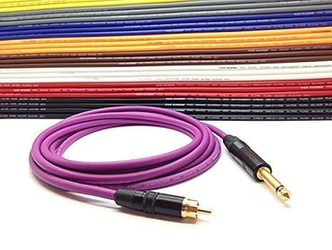 Jack Speaker Cable Lead Mono Jack to Jack 6.35mm 1//4 Neutrik Rean ALL LENGTHS 1 Metre