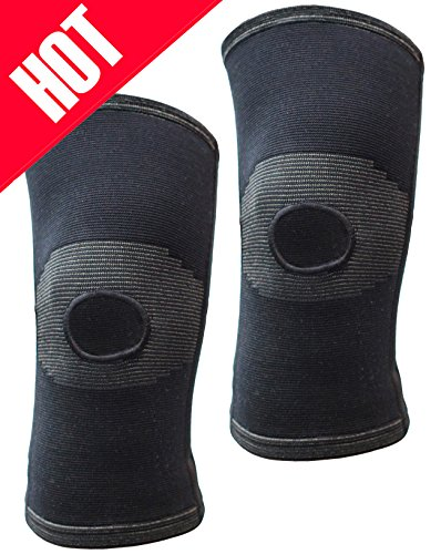 Thirty 48 Knee Support Brace-Open Patella-Dual Coil Spring Support stabilizers, relieves Joint Pain from ACL, MCL,PCL Injury Recovery, Arthritis, Sports. Knee Protector Relieves Pain Symptoms