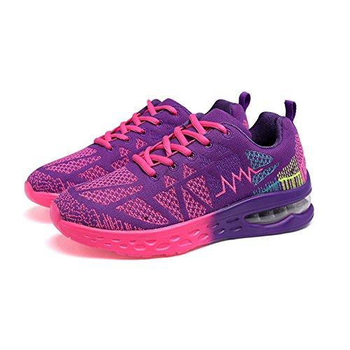 Lacets Trainers rose Padgene A Femme Sports Violet Réspirant Baskets gwwqfO7x