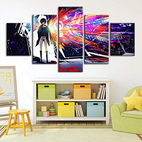Wall Art Photo HD Print Poster Animation Home Decor Canvas Painting Modular Frame Living Room (with Frame)]()