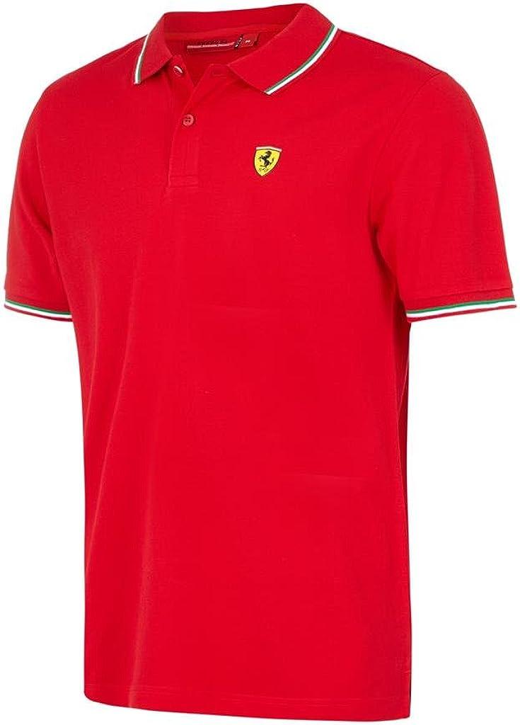 B07BWZDRF9 Scuderia Ferrari Men's Formula 1 Authentic Men's Red Tri-Color Polo 510rwRNbxDL