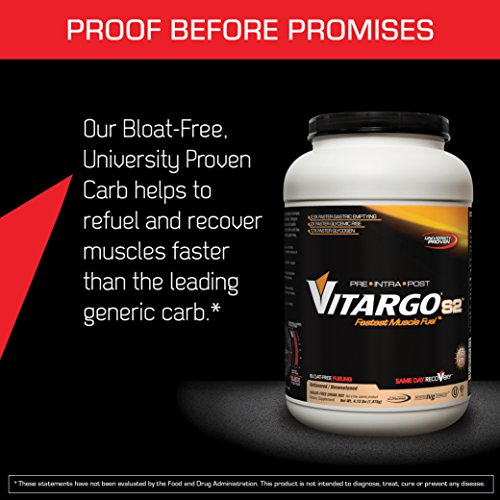 Vitargo S2 Gluten Free Pre Intra Post Workout and Sport Supplement, Unflavored, 25 Servings (FFP)