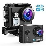 WiMiUS Sports Action Camera 4K Ultra HD 16MP Underwater Waterproof Camera 170° Wide