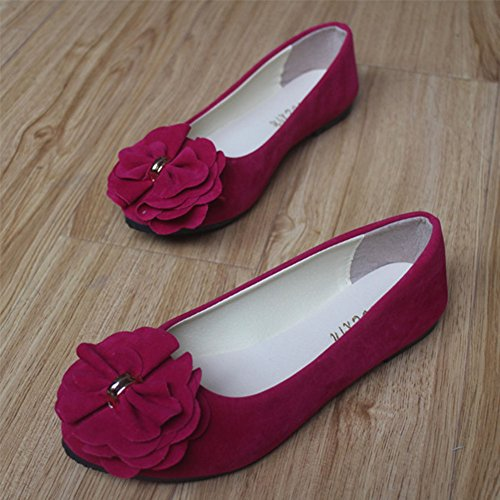 Slip Loafers Pregnant Rose Comfy Casual Ladies with Shoes Shoes Working Shoes Shoe Flats Womens Flats Floral MISSMAO Color Candy On Woman xR8ZwYZqI