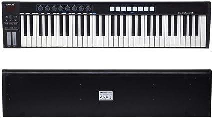 ABMBERTK 61 Teclado Controlador USB Midi portátil, 61 Teclas ...