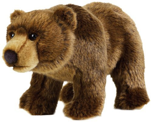 National Geographic Stuffed Animals Hand Puppet (1 Piece), Medium, Grizzly Bear by National Geographic