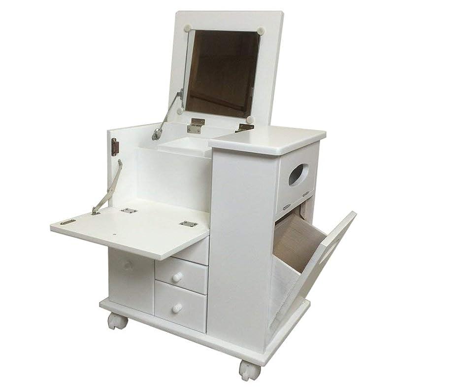 従順な全能ラッチJKプラン 姫系 キャッツプリンセスduo ドレッサー 化粧台 アンティーク 木製 テーブルにもなるおしゃれな猫足の化粧台 幅60 ホワイト SGT-0118-WH