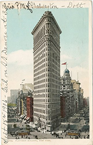 (Historic Pictoric Postcard Print | Flat Iron Building, New York, N. Y, 1903 | Vintage Fine Art)