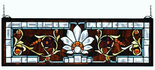 Beveled Ellsinore Transom Stained Glass (Stained Glass Transom)