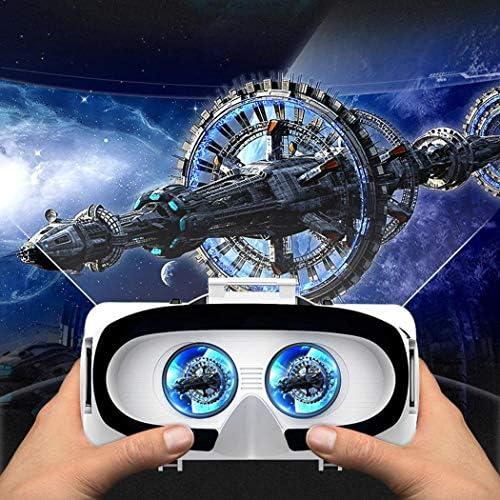 FANEO デジタルバーチャルリアリティ3D VRメガネ VRヘッドマウント スマートフォン用 3Dメガネ用, Headset, ホワイト, FBQF041707_1##