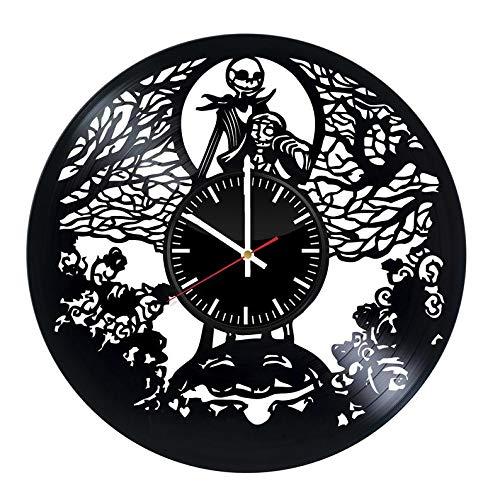 Jack Skellington Sally Nightmare Before Christmas Vinyl Record Wall Clock Gifts