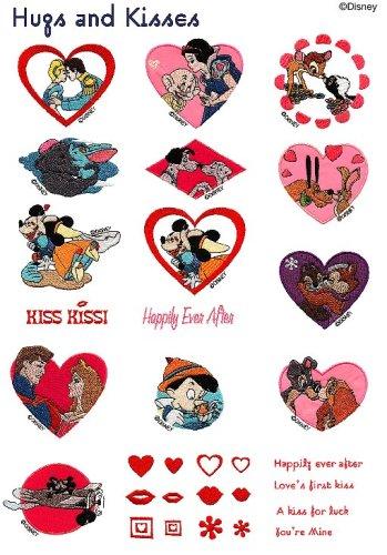 Brother SA312D 'Hugs and Kisses' Disney Embroidery Card