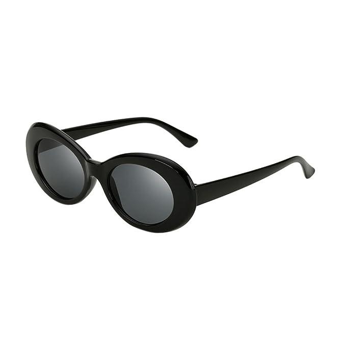 ALWAYSUV Retro Oval Rahmen PC Sonnenbrille Runde Linse Clout Goggles Kurt Cobain 2r0hj7JE