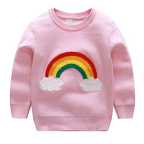 Bleubell Girls Knitted Sweater Rainbow Sweatershirt 2t from Bleubell