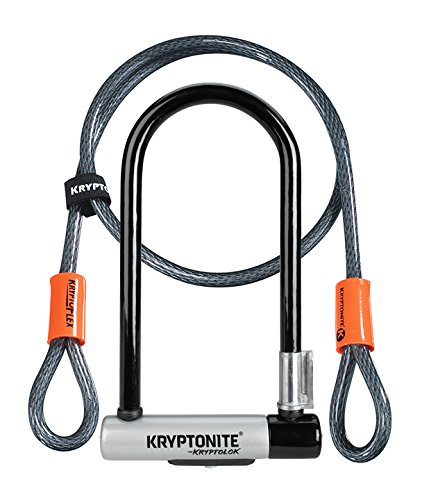 Kryptonite New-U KryptoLok Series 2 Standard Bicycle U Lock with 4ft Flex Bike Cable
